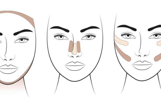 Wie sollte man das Gesicht konturieren?